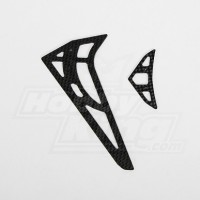 GT450PRO Carbon Fiber horizontal/vertical tail fin