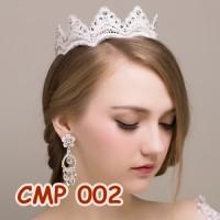 Jual Aksesoris Crown Pesta l Mahkota Tiara Rambut Pengantin Modern - CMP002 Murah