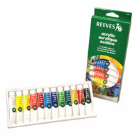 Reeves Acrylic Colour Set 12