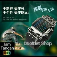 Jam Tangan/Watch LED Sirine Shark TVG Original