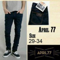 CELANA JEANS SLIM FIT APRIL 77 BIRU DONGKER KEREN / BLUE BLACK
