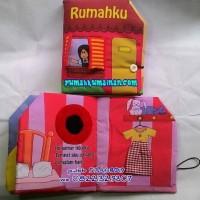 Soft Book / Buku Bantal Rumahku Pink (perempuan)