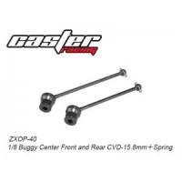 ZXOP 40 RC CAR/MOBIL SPARE PART 1/8 BUGGY CENTER FRONT AND REAR CVD