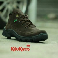 sepatu tracking kickers semi boots coklat kerja pria