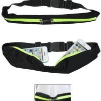 Double Pocket Running Belt Waist Bag Tas Pinggang Lari Jogging Olahrag