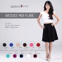 Rok Wedges Mini Flare Skirt