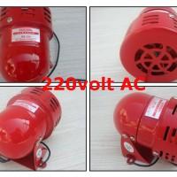 Alarm Sound Sirine Motor AC 220V 120db Bahan Metal (Merah)