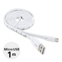 CABLE / KABEL GOLF RULER MICRO USB 100CM Quick Charger & Data MURAH