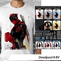 Deadpool 8 BV ~ Tshirt/Kaos/Raglan/Kids/Kaos Anak Oceanseven