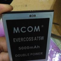 harga Baterai Battery Cross Evercoss A75w Dobel Power Mcom 5000mah Tokopedia.com