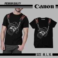 harga KAOS PREMIUM CANON CAMERA BLACK Tokopedia.com