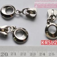 KRSL203 Kepala resleting rel besi uk. 5 Nikel (Per butir)