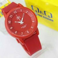 harga Jam Tangan Wanita Pria Qq Q&q Vr52 Original Merah Putih Tokopedia.com