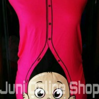 harga Baju Hamil Unik BP2 Pink  Fanta  Blouse  Kaos Maternity T Shirt Tokopedia.com