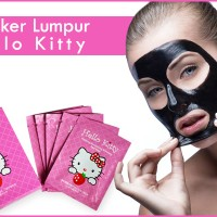 MASKER LUMPUR HITAM HELLO KITTY / HELO KITTY / HELLO KITY BLACK MASK