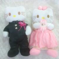 Jual Boneka hello kitty wedding sepasang Murah