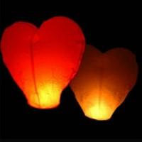Jual lampion terbang / sky lantern bentuk hati Murah