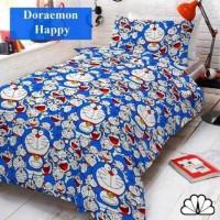 Sprei Doraemon Happy Kain Katun Fortuna no. 3