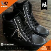Jual sneaker hidden wedges sepatu wanita hak heels tinggi kets boots zumba Murah