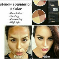 SHADING M.N MENOW FOUNDATION CONCEALER / CONTOURING ME NOW 4IN1