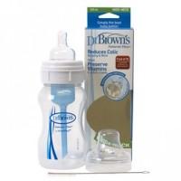Dr Brown Botol Susu Wide Neck Natural Flow 240ml Isi 1
