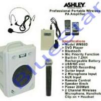 harga Portable Amplifier Wireless Meeting Ashley Wm 08 Dvd ( 8 Inch ) Tokopedia.com