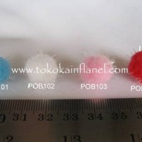 POB1 Pompom (Pom-pom) Berbulu d 10mm (Per Buah)
