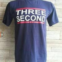 Tshirt/t shirt/oblong/ kaos 3seconds navy