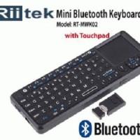 Riitek RT-MWK02 : Wireless Mini Keyboard Mouse Bluetooth & Laser Ponit