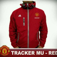 Jual JAKET BOLA WATERPROOF TRACKER MU RED Murah