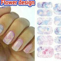 Water transfer foil nail sticker, nail art, stiker kuku bunga