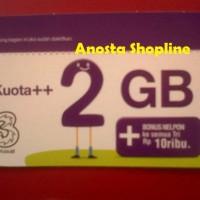 harga Voucher Internet 3/tri/three Kuota 2gb Tokopedia.com