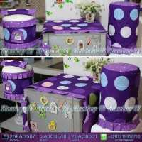 Sarung Galon, Cover Kulkas, Tutup Kulkas Buble Gum Purple