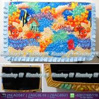 harga Sarung Tv,cover Tv, Bando Tv,tutup Tv Led/lcd Motif Under The Sea Tokopedia.com