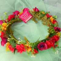 AUTHENTIC ROSE BEGONIA FLOWERCROWN / FLOWER CROWN / BANDO BUNGA
