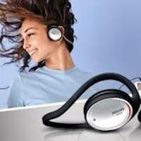 Headphone/headset neckband sport philips SHS 390garansi resmi/original