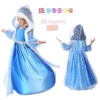3in1 KOSTUM ELSA FROZEN MAHKOTA Baju Anak Import Branded Dress Gaun