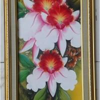 harga Lukisan bunga anggrek 30 x 90 cm Jelekong Tokopedia.com