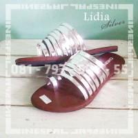 harga Lidia Silver : Sendal Wanita Murmer Sandal Flat Gladiator Slop Tali Tokopedia.com
