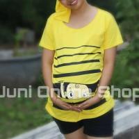 harga Baju Hamil Unik BP1 Kuning Blouse Kaos Maternity T Shirt Tokopedia.com