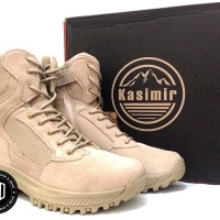 "sepatu tactical kasimir desert 8"" airsoft outdoor military import boot"