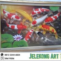 Jual Lukisan Ikan Koi Asli Lukis Murah