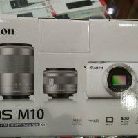 Canon EOS M10 Kit 15-45mm and 55-200mm (Double Lens) !!!!