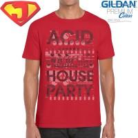 Kaos Musik Pria Original Gildan Premium Cotton - Acid House Party