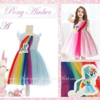 Pony amber A- Blue size small
