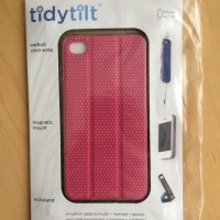 TidyTilt case & headphone protector iPhone 4/4s - USA Designed - PINK