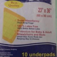 underpad, alas tempat tidur ukran 60x90 cm