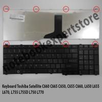 Keyboard Toshiba Satellite C650 C660 C665 C655 C660, L650 - Black