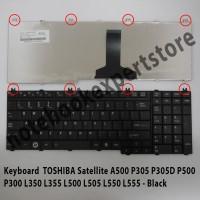 Keyboard TOSHIBA Satellite A500 P305 P305D P500 P300 L350 L355 Black