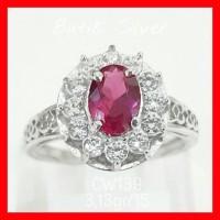harga Cincin Ruby Tr Batu Merah Cw139 Silver Perak 925 Lapis Emas Tokopedia.com